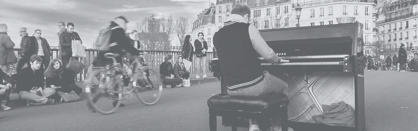 Piano Street concert in Paris.